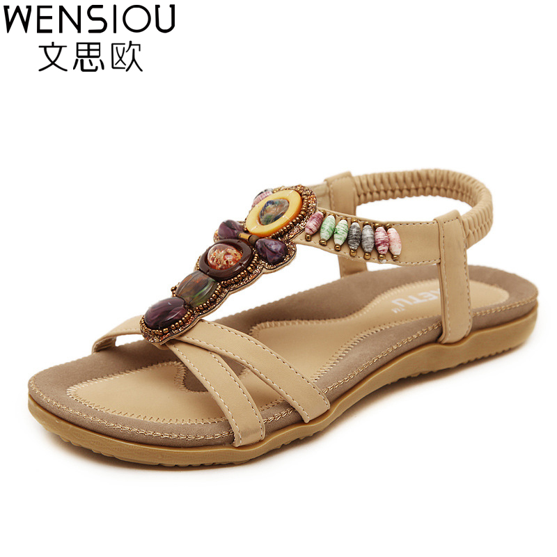 summer women sandals  women shoes Bohemia gladiator sandals flat shoes plus size  ladies shoes new flip flops 2017 7-BT537 new sandals women 2016 summer casual women shoes roman gladiator girls flat sandals ladies white flip flops nice sandals