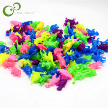 10 pcs/lot Dinosaurs model set cute plastic static animals decoration gifts toys kids Mini colors small World(China)