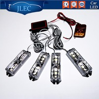 Automobiles 12V 24LED 24W Flashing Dash Strobe Lights with Remote Control 4*6 LED DRL Red & Blue Amber White Emergency Light bar