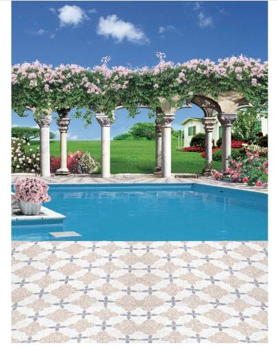 Swimming pool vinyl cloth flower garden meadow house photography backdrops for wedding kids photo studio portrait backgrounds