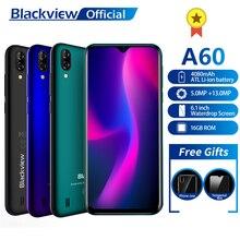 Blackview A60 Smartphone Dört Çekirdekli Android 8.1 4080 mAh Cep Telefonu 1 GB + 16 GB 6.1 inç 19.2: 9 ekran Çift Kamera 3G Cep...