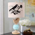 Lamps bird American country European retro pastoral living room bedroom bedside lamp modern fashion creative