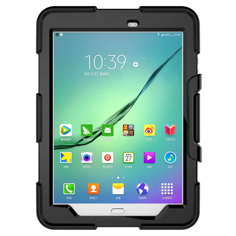 New Arrival Hybrid Army Heavy Duty Silicone Cover Funda Case For Samsung Galaxy Tab S2 T810 T813 T815 T819 9.7