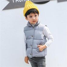 Kids Girls Vests Children's Down Parkas Cotton Warm Vest Baby Girl Boy Sweet Solid Waistcoat Outerwear 1-6 Years