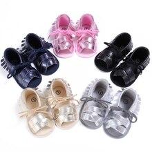 Fashion 2017 New Brand Design Moccasins Soft Moccs Fringe Shoes Infant Toddler Kids Cross Beach Indoor Bling Summer Footwear