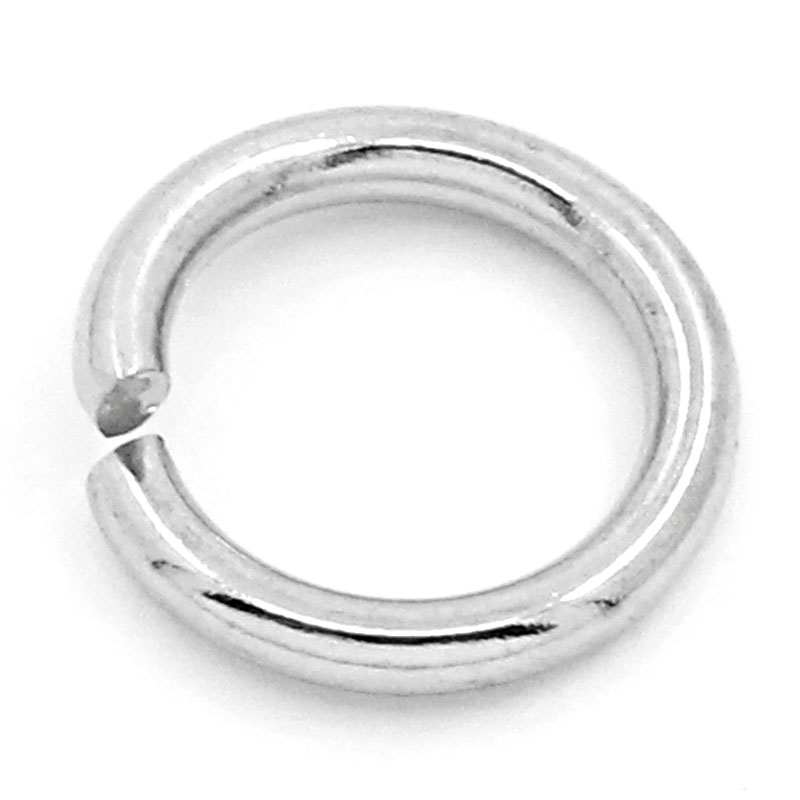 LASPERAL 500PCs 8mm Stainless Steel Jump Rings & Spilt Rings For Jewelry Making DIY Hand Made Craft Jewelry Findings Components