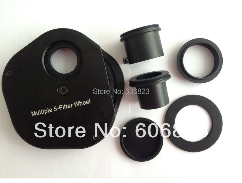 New 1.25 Inch Fitting Colour Filter Wheel For Telescopes Full Metal
