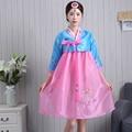 Новые Летние Короткие Женщин Ханбок Женский Корейский Платье Этнические Костюмы Вышитые Корейский Традиционный Танец Платье Косплей 18