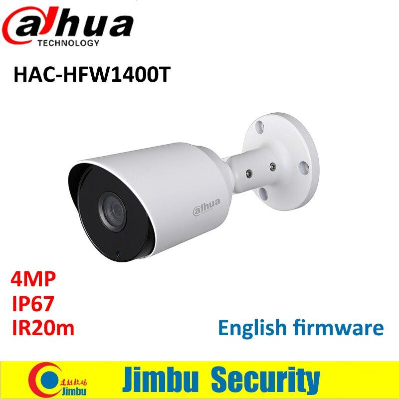 Dahua 4MP HDCVI IR Bullet Camera HAC-HFW1400T IR20m Smart IR IP67 CCTV mini camera Max 30fps@4MP HD and SD output switchable hd sdi miniature headset bullet camera 1920x1080 30fps