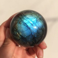 about 60mm 100% natural labradorite Crystal gemstone sphere Metaphysical Healing heavy flash labradorite stone for home decor