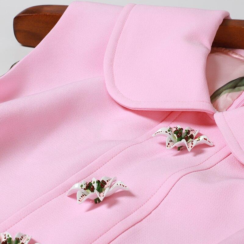 SEQINYY فستان ضيق 2019 الصيف جديد تصميم الأزياء أكمام زهور الزنبق أزرار الحلو سليم البسيطة اللباس المرأة-في فساتين من ملابس نسائية على  مجموعة 3