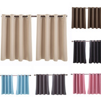 2 шт. высокое качество плотные вуаль шторы изоляцией пены выстроились тяжелые толстые плотные Grommet Твердые окна занавески 150x90 см