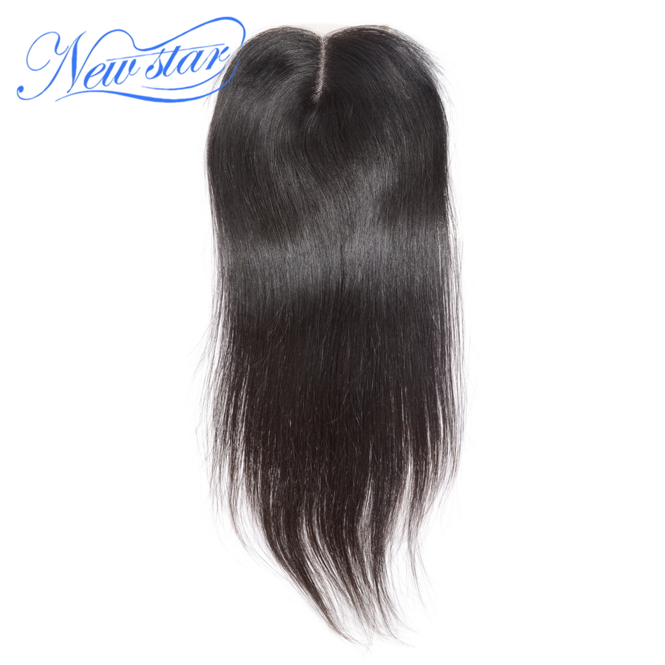 Closures Middle-Part Hair-Lace Human-Hair Virgin Natural-Color Straight Peruvian New