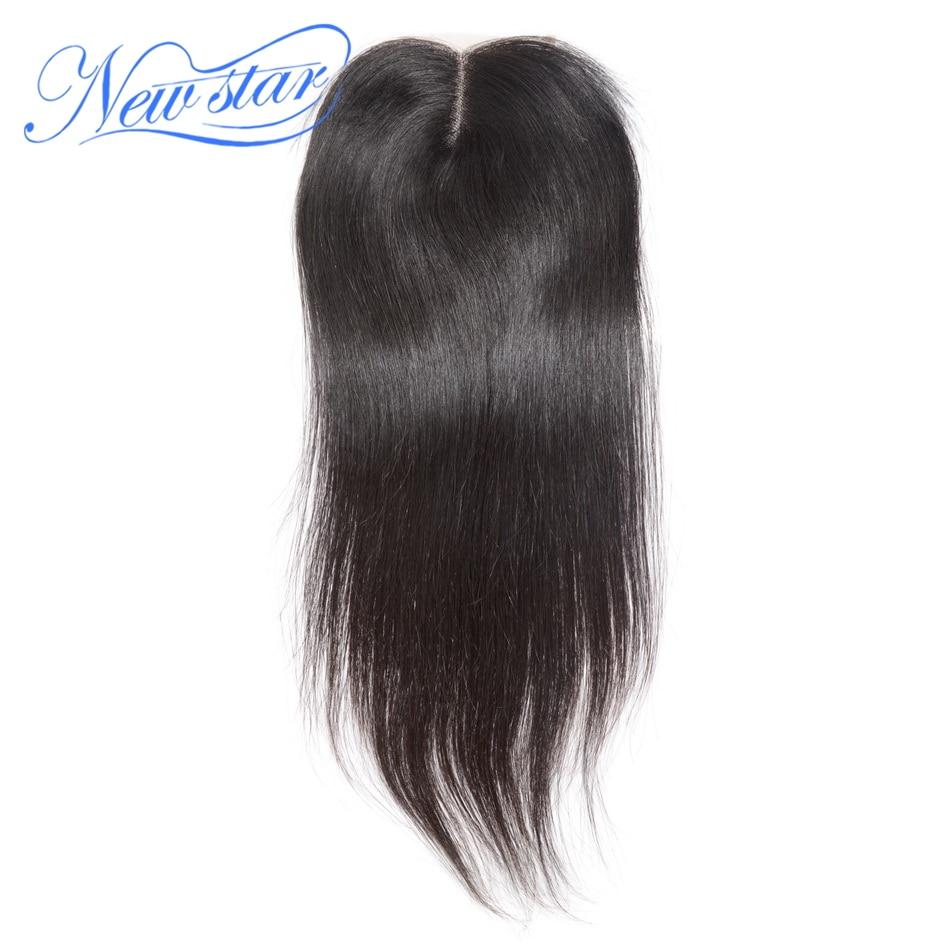 Guangzhou New Star Péruvienne Cheveux Raides Dentelle Moyen Partie 4 ''x 4'' Fermetures Couleur Naturelle Vierge de Cheveux Humains avec Bébé Cheveux