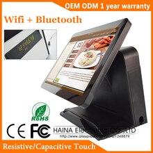 האינה מגע 15 אינץ מסך מגע Wifi קופה מערכת מכונה לסופרמרקט עם יציאת מקבילית