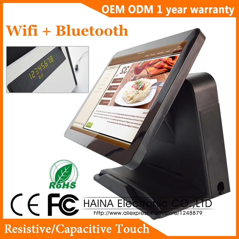 Haina Touch 15 inch Touch Screen Wifi POS System Machine For Supermarket with Parallel Port-in LCD Monitors from Computer & Office