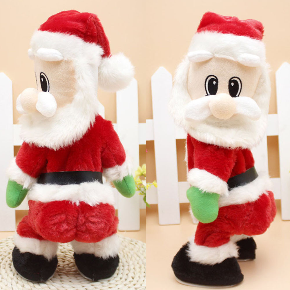 Hot selling 2017 Christmas Santa Claus Figure Twisted Hip Twerking Singing Electric Toys for kids childs besy gift #JD loviny