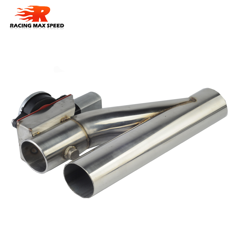 2 2 25 2 5 2 75 3 inch SS304 Y Pipe cutout 1 drag 2 Electric Exhaust cutout Down Pipe exhaust bypass valve remote button DYYR in Mufflers from Automobiles Motorcycles