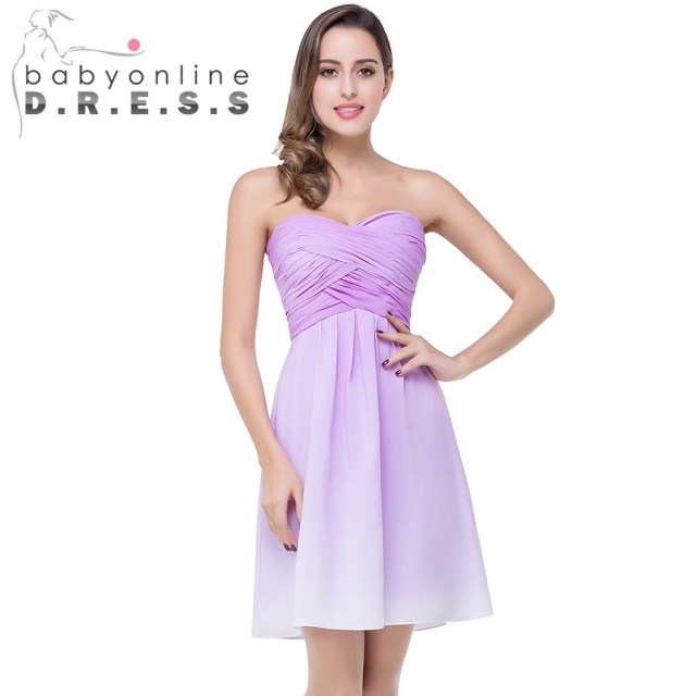6d99fb67768 Sexy Sweetheart Long Chiffon Purple Gradient Bridesmaid Dresses 2017 Ombre  Prom Dresses for Weddings