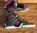 OSIRIS Men Skate boarding Shoe Fashion Flats Lace Up Purple Green Leopard Change Color NYC 83 Shoes Menwear