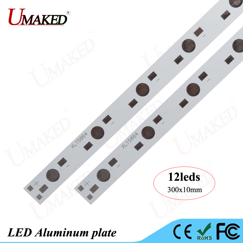 Alu Plaat Us 14 5 Led Aluminium Plaat 1 W 3 W 5 W High Power Leds Installeren Led Pcb Board 300 Mm 6 W 12 W 60 W Lamp Plaat Voor Aquarium Buis Licht Groeien