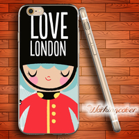 Coque British Royal Guard Soft Clear TPU Case For IPhone 6 6S 7 Plus 5S SE