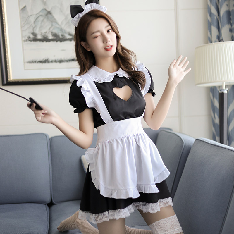 Maid Uniform Costumes Role Play Women Sexy Lingerie Hot Sexy Underwear Lovely Cat ear Female White Lace Erotic Costume in Lingerie Sets from Novelty Special Use