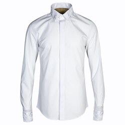 Chinese Stijl Kraag Shirt Ropa Hombre 2018 Mannen Mode Overhemd Mannen Harujuku Mannen Kleding Mannen Dress Shirts Lange Mouwen