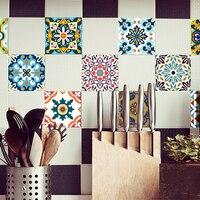 Funlife 20 20cm 10pcs 7 87 7 87inch PVC Waterproof Self Adhesive Wallpaper Kitchen Mediterranean Tile