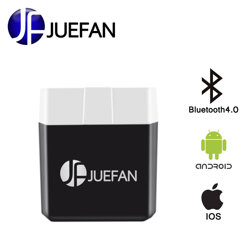JUEFAN Low power elm327 Bluetooth 4.0 obd II Auto diagnostic tool elm 327 OBD2 car detector Scanner for Android IOS windows elm327 mini v2 1 obd2 bluetooth interface auto viecar 2 0 car scanner diagnostic tool for android smart phone car fault detector