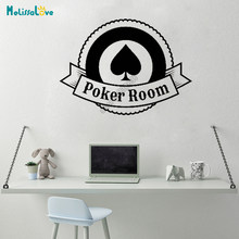 Poker Room Casino Games Cờ Bạc Decal Decor Cờ Vua Phòng Home Window Sticker Removable Vinyl Tường Stickers B641(China)