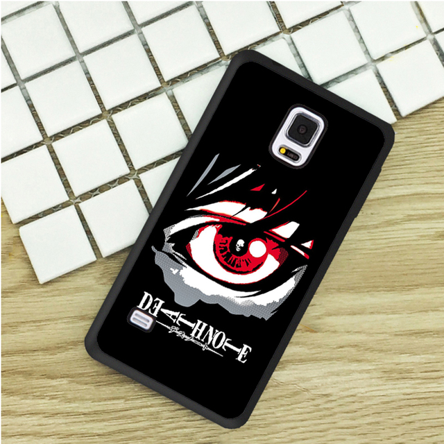Death Note Eye Anime Black Tpu Phone Cases For Samsung Galaxy S3 S4