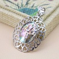34x46mm Embroider Ellipse Ethnic Chic abalone Natural Abalone seashells sea shells pendants geometry jewelry crafts making DIY