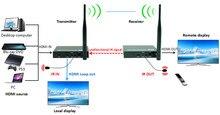 2.4 ghz/5.8 ghz 660ft sans fil hdmi vidéo audio émetteur récepteur 1080 p sans fil hdmi extender wifi kit 200 m avec boucle out & ir