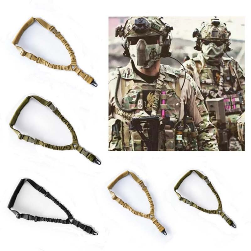 1pc High Quality Outdoor Tactical A Single Point Gun Rope Task Safe Ropes Adjustable Rifle Gun Strap Belts