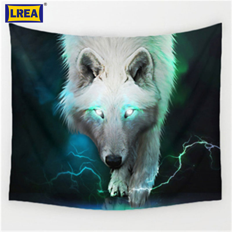 Brand Art Decor 3D print The forest wolf pattern Polyester Tapestry Beach Blanket Room Divider Yoga Beach fashion Tapestry