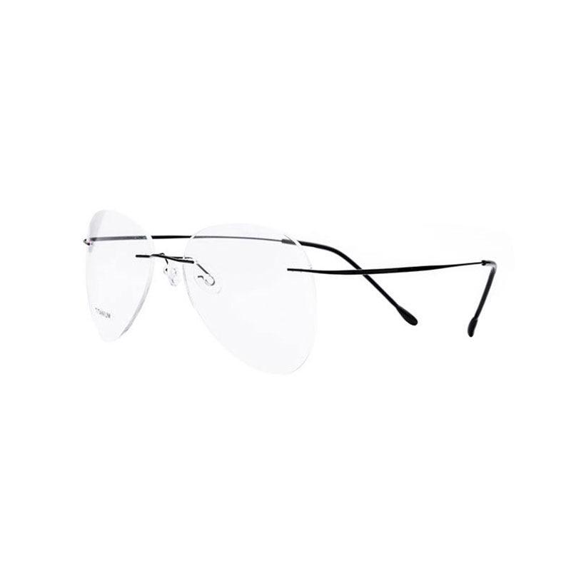 Titanium Rimless Fashion Designer Eyeglasses Optical Glasses Frame Men And Women Eyewear