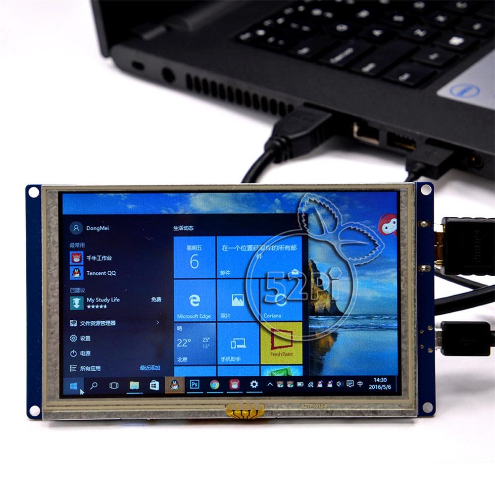 US $29 66 31% OFF|52Pi Free Driver 5 inch 800*480 TFT LCD HDMI Touch Screen  Display for Raspberry Pi 2B / 3B / 3B Plus (3B+) / PC Windows-in Demo