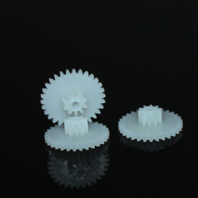 10pcs 30+10T 2mm shaft double plastic gear for rc robot ship toy accessories technology model parts diy baby toys 30102A