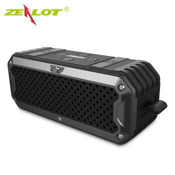 Zealot S6 Outdoor Waterproof IP65 Bluetooth Speaker Subwoofer SD Card Slot Super Bass Hifi Subwoofer Speaker 4000mAh Power Bank subwoofer