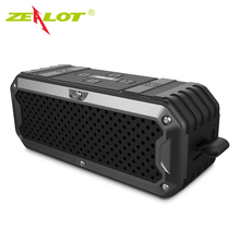 Zealot S6 Outdoor Waterproof IP65 Bluetooth Speaker Subwoofer SD Card Slot Super Bass Hifi Subwoofer Speaker 4000mAh Power Bank