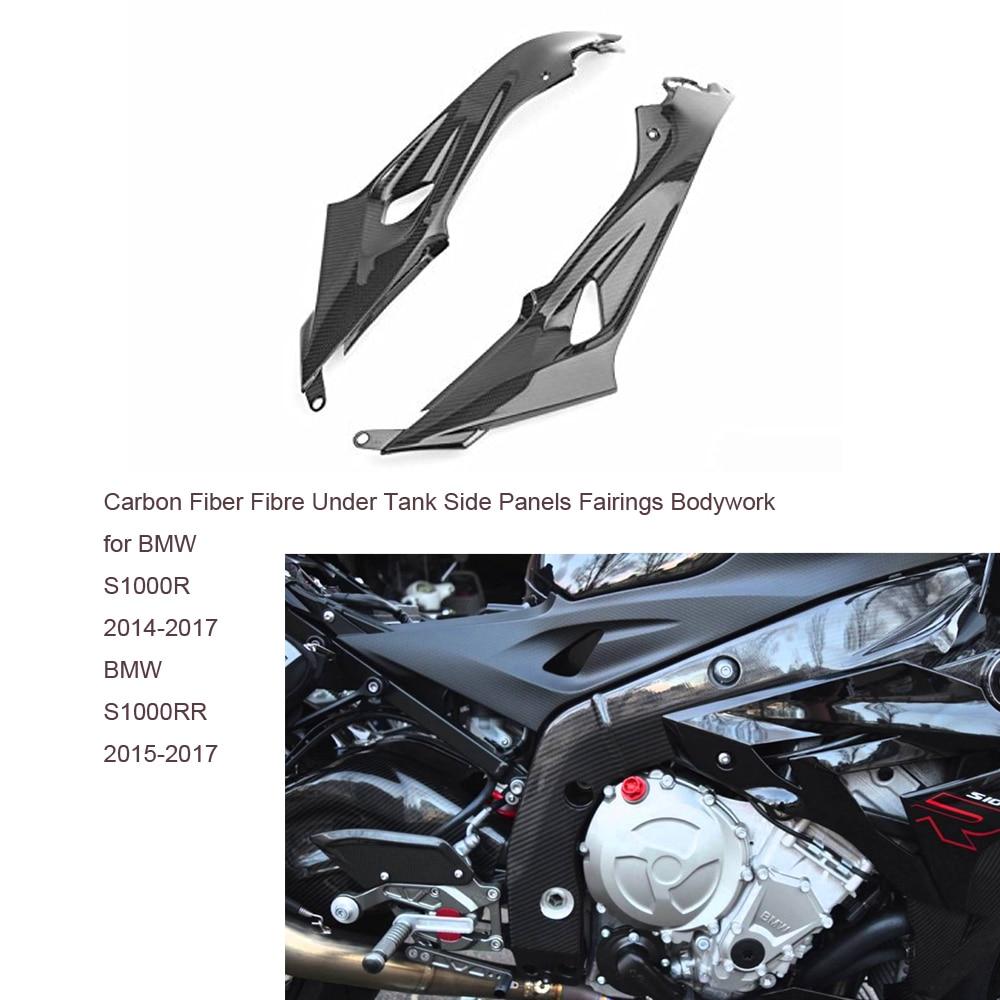 Мотоцикл препрега Саржевого углеродного волокна (сухой углерод) под бак боковые панели кузова Обтекатели для BMW S1000RR 2015-17 БМВ S1000R