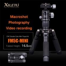 Buy online XILETU FM5C-MINI Aluminum Stable Tabletop Desktop Tripod&Ball Head For Digital camera Mirrorless camera Smart phone