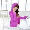 Nuevo 2016 Mujeres Abajo Manera de La Capa Delgada 90% Plumón de pato Relleno chaqueta Abrigos Envío Libre Más Tamaño Outwear Caliente Mujer Invierno JD003