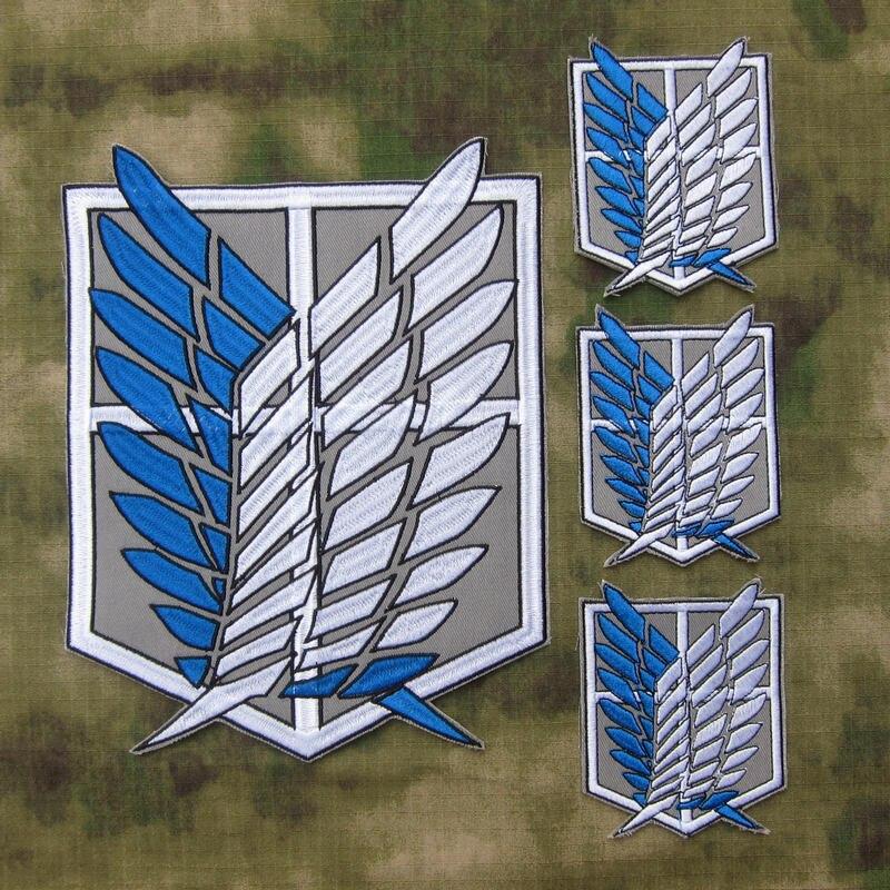 Attaque sur le Corps d'enquête Titan dos du Corps broderie patch costume grand