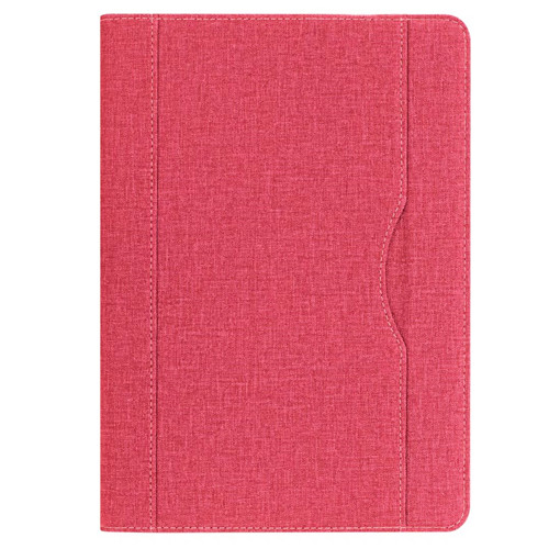 Red iPad folio case with stand and pen holder