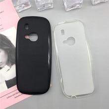 Мягкий силиконовый чехол для телефона Nokia 3310 / 3310 2017, Роскошные Защитные чехлы из ТПУ с полным покрытием, черные чехлы, Оригинальный чехол