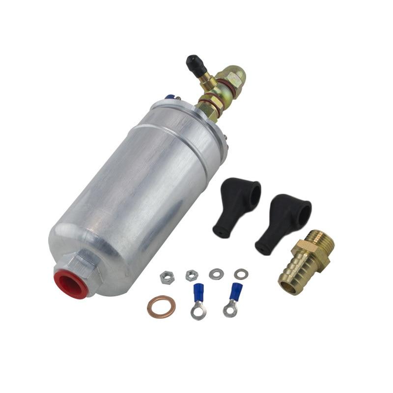 Vr-bomba de combustível externa 0580 254 044 bomba de combustível com kit de montagem banjo adaptador de mangueira união 8mm saída cauda-1