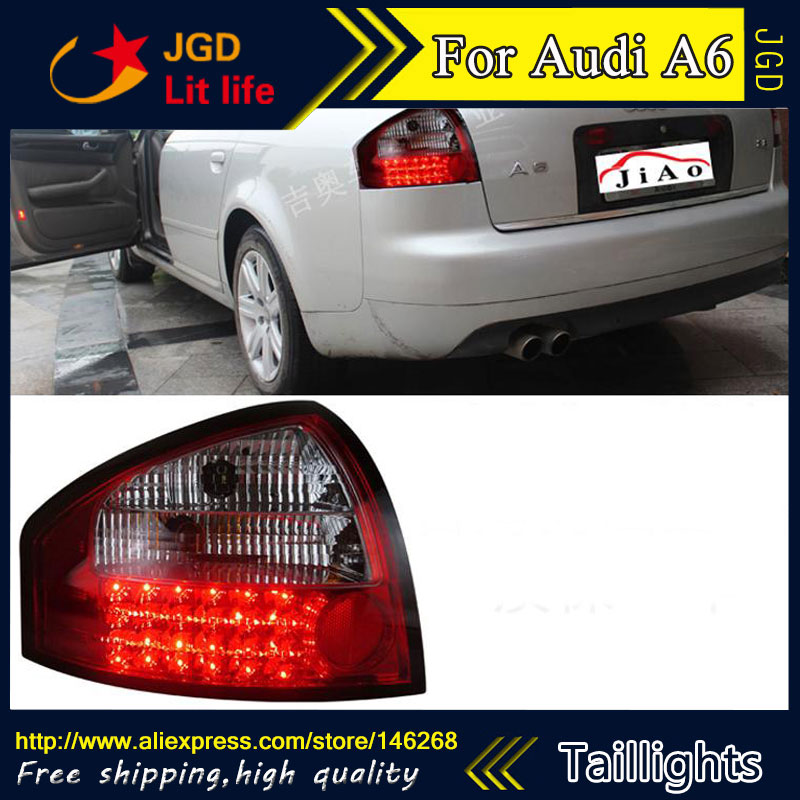Car Styling tail lights for Audi A6 1998-2004 taillights LED Tail Lamp rear trunk lamp cover drl+signal+brake+reverse car styling tail lights for hyundai santa fe 2007 2013 taillights led tail lamp rear trunk lamp cover drl signal brake reverse