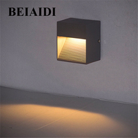BEIAIDI 3W Waterproof LED Step Stair Light Surface Mounted Corner Wall Lamp IP65 Outdoor LED Footlights Pathway Step Light